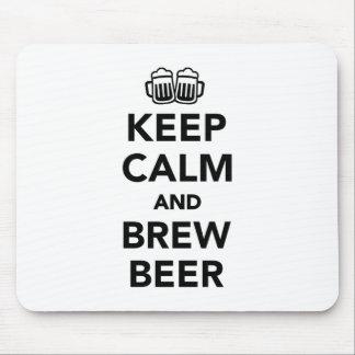 Mousepad Mantenha cerveja calma e da fermentação