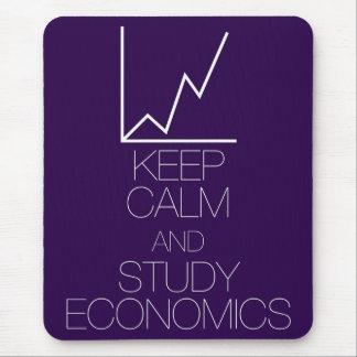 Mousepad Mantenha economia calma e do estudo