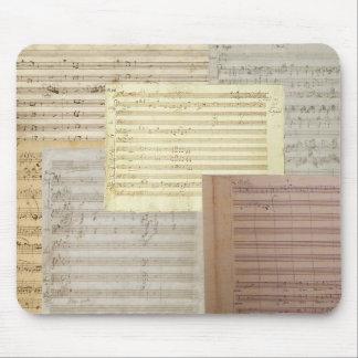 Mousepad Manuscritos da música de Mozart