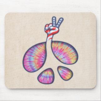 Mousepad Mão da bandeira do sinal de paz