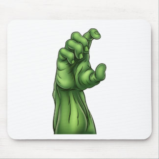 Mousepad Mão do Dia das Bruxas do monstro do zombi