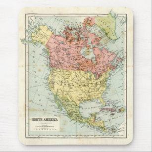 Mousepad Mapa antigo de America do Norte
