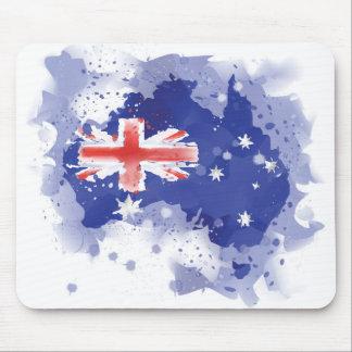 Mousepad Mapa da aguarela de Austrália