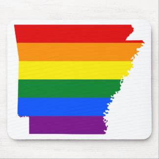 Mousepad Mapa da bandeira de Arkansas LGBT