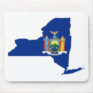 Mousepad Mapa da bandeira de New York