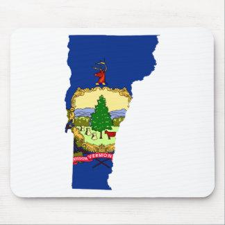 Mousepad Mapa da bandeira de Vermont