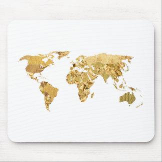 Mousepad Mapa da folha de ouro