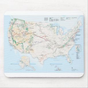Mousepad Mapa da fuga dos parques nacionais