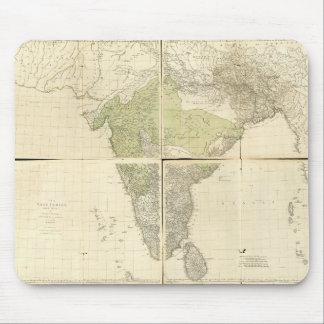 Mousepad Mapa das Índias do leste com as estradas (1768)