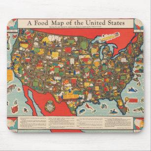 Mousepad Mapa de Comidas dos Estados Unidos
