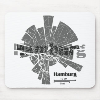 Mousepad Mapa de Hamburgo