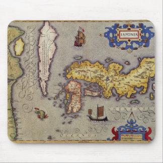 Mousepad Mapa de Japão por Mercator e por Hondius, 1606