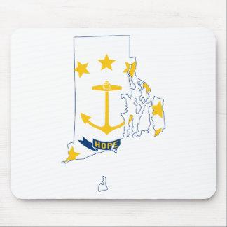 Mousepad Mapa de Rhode - ilha da bandeira