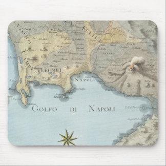 Mousepad Mapa do golfo de Nápoles e de arredores