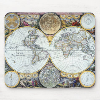 Mousepad Mapa do mundo antigo, atlas Maritimus pelo