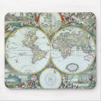 Mousepad Mapa do mundo antigo do século XVII, Frederick De