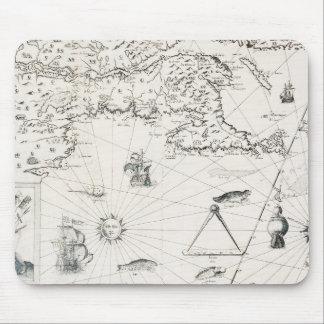 Mousepad Mapa do mundo medieval Quebeque Novo-France
