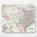 Mousepad Mapa do vintage de Texas (1855)