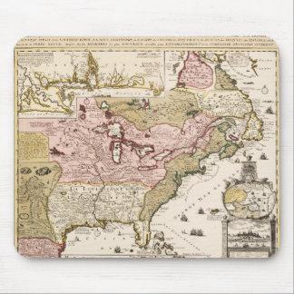Mousepad Mapa francês medieval América de Quebeque/France