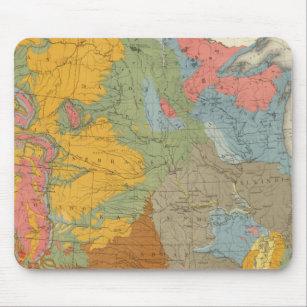 Mousepad Mapa Geológico dos EUA