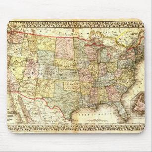 Mousepad Mapa geral dos EUA dos Estados Unidos idosos do