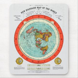 Mousepad Mapa padrão novo da terra lisa Earther do mundo