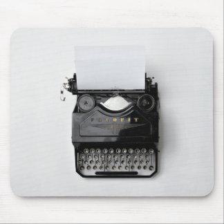 Mousepad máquina de escrever clássica preta velha do