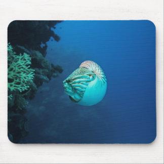 Mousepad Mar coral do grande recife de coral do nautilus