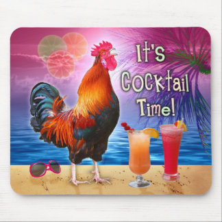 Mousepad Mar tropical da praia dos cocktail engraçados da