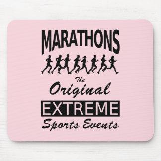 Mousepad MARATONAS, os eventos de esportes extremos