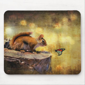 Mousepad Maravilha da floresta - esquilo & borboleta
