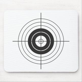 Mousepad marca redonda do design do círculo do alvo