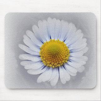 Mousepad margarida branca de brilho