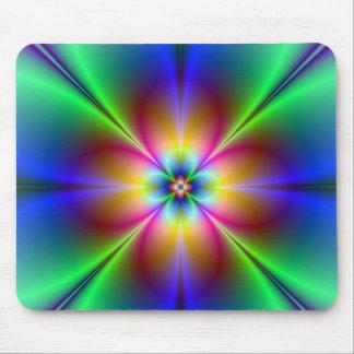 Mousepad Margarida de néon colorida