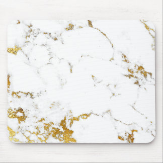 Mousepad Mármore cinzento branco abstrato do ouro de