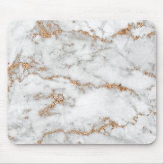 Mousepad Mármore cinzento branco do brilho de Carrara do