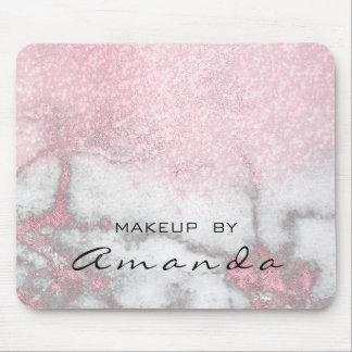 Mousepad Mármore do rosa do nome da composição do estúdio