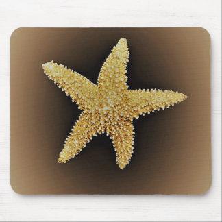 mousepad marrom do fundo da estrela do mar