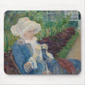 Mousepad Mary Cassat- Lydia que Crocheting no jardim