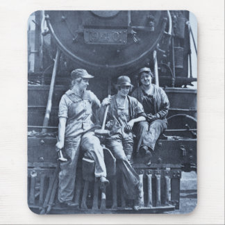 Mousepad Mecânicos locomotivos das mulheres 1918 WWI