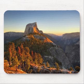 Mousepad Meia abóbada no detalhe do por do sol - Yosemite