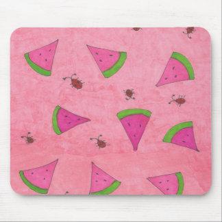 Mousepad Melancia e senhora cor-de-rosa Insetos