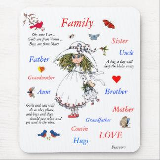 Mousepad Membros da família