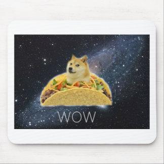 Mousepad meme do taco do espaço do doge