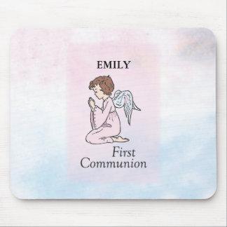 Mousepad Menina, primeiro anjo do comunhão