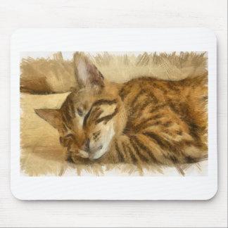 Mousepad Mentira deixada dos gatos do sono