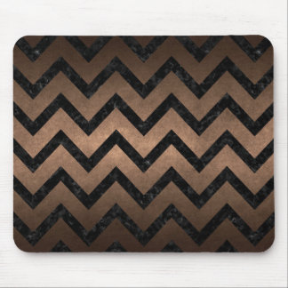 MOUSEPAD METAL PRETO DO MÁRMORE CHEVRON9 & DO BRONZE (R)