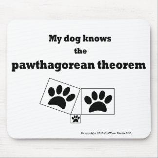 Mousepad Meu cão sabe o teorema de Pawthagorean