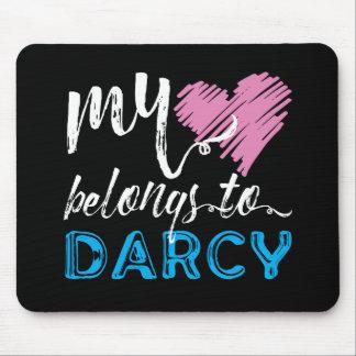 Mousepad Meu [coração] pertence a Darcy - Jane Austen