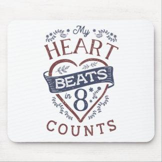 Mousepad Meus batimentos cardíacos em uma dança de 8